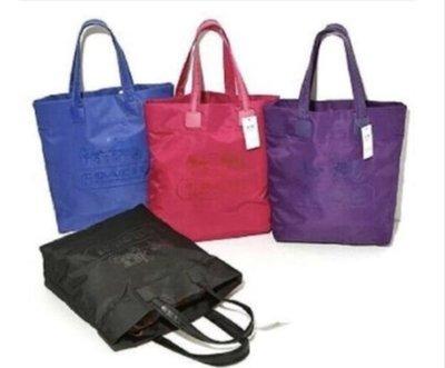 經典 COACH 大購物袋 防水尼龍 滿額贈品 托特包 側背包 肩背包