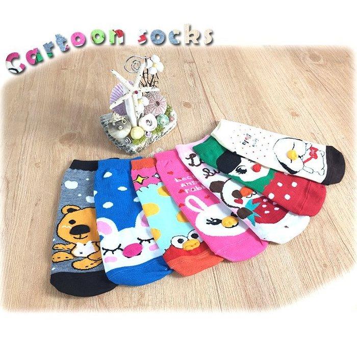 襪子【FSC003】可愛造型卡通立體童襪 隱形襪 短襪 螢光色 氣墊襪 純棉 毛巾襪 收納女王