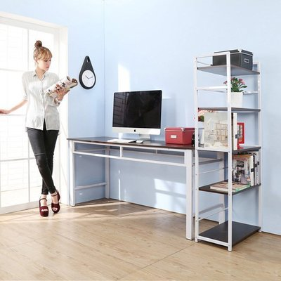 臥室/辦公室【居家大師】超穩固耐用加長160公分工作桌附五層置物書架公文櫃收納櫃 I-FY-DE1662+SH6314