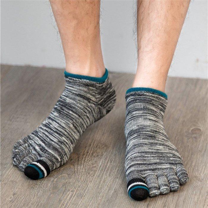 春夏復古五指襪男棉薄短筒船腳趾襪吸汗透氣五趾襪