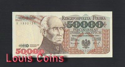 【Louis Coins】B483-POLAND-1993波蘭紙幣,50.000 Złotych
