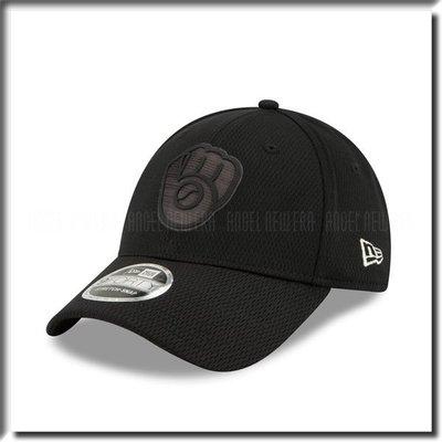 【ANGEL NEW ERA 】MLB 2019 球員周 密爾瓦基 釀酒人 老帽 鴨舌帽 全黑 可調 穿搭 低調 硬版