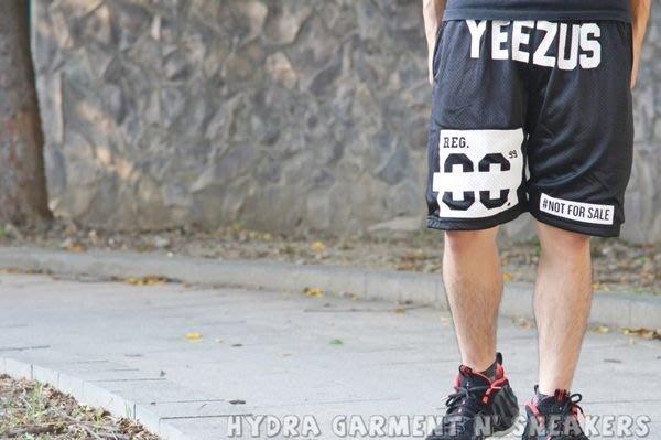 【HYDRA】THATSHITCRAY YEEZUS SHORT 洞洞 網眼 球褲 藍球褲 黑色 短褲 S~XL