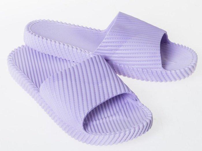 浴室防滑斜紋拖鞋 – 紫38~39碼 FA-38955