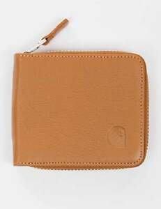 【紐約范特西】現貨 CARHARTT ZIP WALLET SMALL LEATHER I025747 黑/卡其 小皮夾