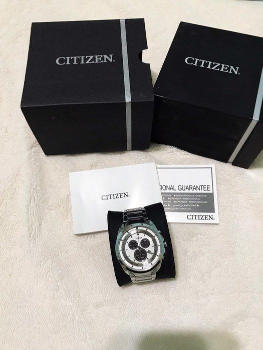 CITIZEN星辰錶  光動能 計時碼錶 時尚男錶 日期 公司貨 優惠含運2860元
