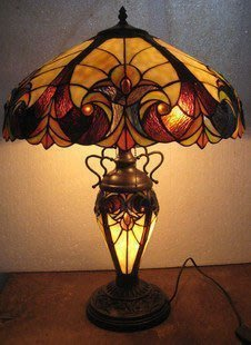 【優上精品】歐式蒂凡尼燈飾臺燈書房客廳彩色玻璃子母燈酒店家居飾品(Z-P3235)