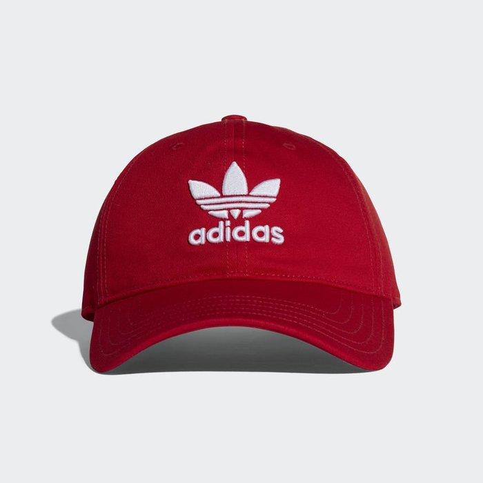 Adidas Originals Trefoil 紅 白Logo 老帽 棒球帽 DJ0884 -SPEEDKOBE-