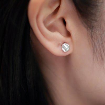 圓形浮印耳環 Round Stamps Stud Earrings