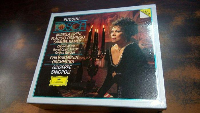 好音悅 半銀圈 Sinopoli 辛諾波里 Puccini 普契尼 Tosca 托斯卡 2CD 愛樂管弦樂團 DG 德版