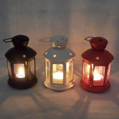 英倫複古開窗手提馬燈歐式鐵藝風燈婚慶攝影道具鐵皮烤漆玻璃燭台