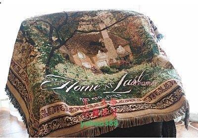 美學8歐式田園全棉沙發毯巾地毯沙發蓋毯裝飾毯 港灣3806❖67183