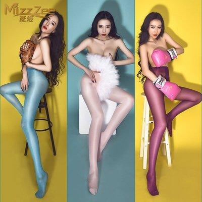MIX style SHOP【S-350】SEXY油光❤超油亮30D高腰T型開襠褲襪/舞蹈表演閃光絲襪~(11色)