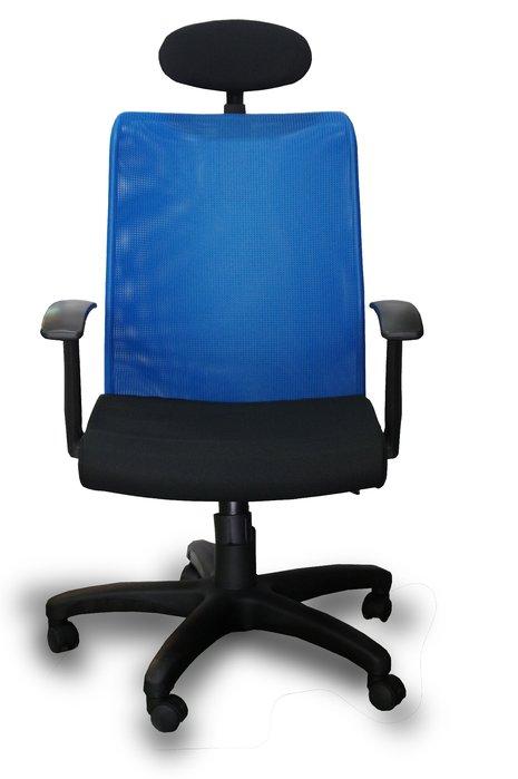 【漢興OA辦公家具】透氣高背舒適網椅 +扶手+頭枕  台灣出品