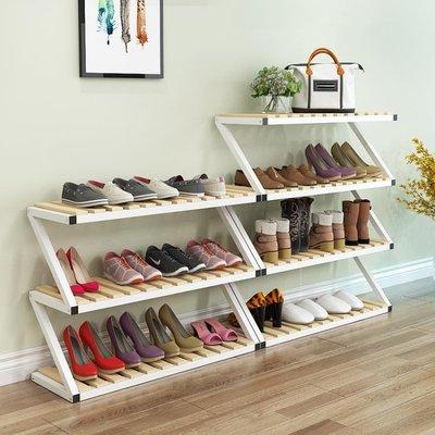 鞋架經濟型家用實木多層省空間鐵藝客廳防塵鞋架現代簡約鞋柜