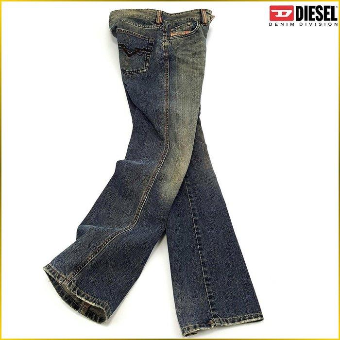 日本二手衣✈️義大利製 DIESEL W26 無彈性 刷色 寬鬆牛仔褲 DIESEL 牛仔褲 日本女裝 A615FD