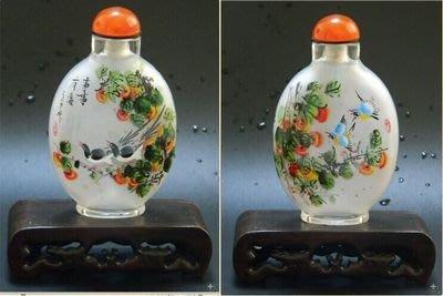 事事如意內畫鼻煙壺外事商務禮品出國禮品中國特色手工藝品送長輩手繪 壺說33