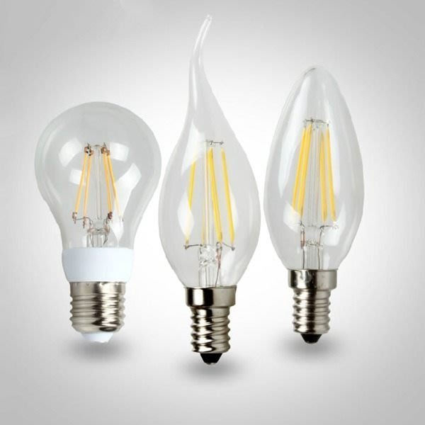 5Cgo【權宇】E27 E14 燈絲 球泡燈 LED 燈泡 4W 傳統鎢絲燈型 360度發光蠟燭 含稅 會員扣5%