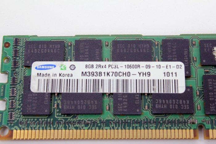 【開心驛站】二手SAMSUNG DDR3L 1333 ECC REG 8G M393B1K70CH0-YH9伺服器記憶體