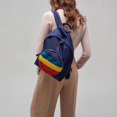 【全新正貨私家珍藏】ANYA HINDMARCH Chubby Wink Backpack 彩虹眨眼睛笑臉雙肩包/後背包