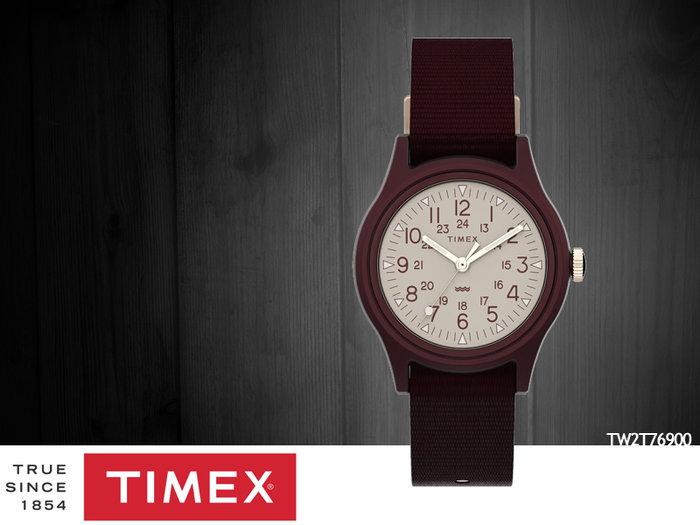 【時間道 】TIMEX 天美時 輕便運動風仕女腕錶/酒紅帆布帶(TW2T76900)免運費