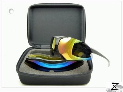 MIT!三組框+七鏡片※破盤下殺【Z-POLS強植炫悍三代款】新一代可掀6+1(含偏光可配度運動眼鏡