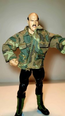 A-178 櫃 現況品 : WWE 職業摔角 JAKKS CLASSIC SGT SLAUGHTER 殺戮警 富貴玩具店