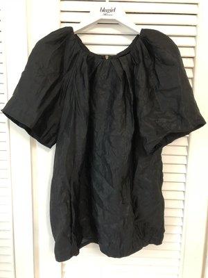 Marni 黑色短袖傘狀上衣