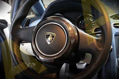 ACA - Lamborghini LP560 小牛 真空碳纖維 方向盤 飾片 貼片 外蓋