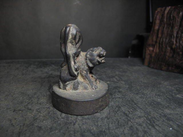 老銅雕◎ 老虎 銅印