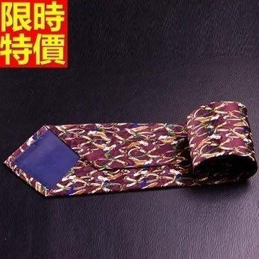 領帶 桑蠶絲男配件-色織提花真絲條紋商務休閒手打領帶66ae46[獨家進口][米蘭精品]