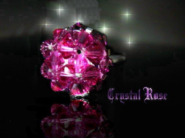 ※水晶玫瑰※ SWAROVSKI 水晶戒指~葡萄紫(HAND14)