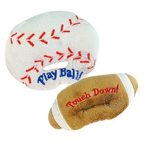 【🐱🐶培菓寵物48H出貨🐰🐹】道格》 寵物專用 絨布球類造型啾啾玩具(柔順不傷寵物)  特價66元