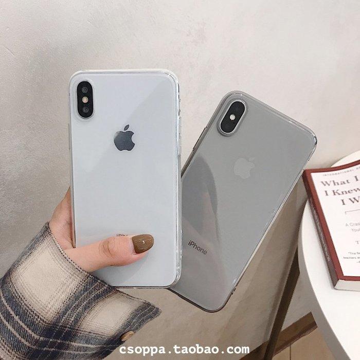 簡約超薄殼iphoneX/XR/Xs/Max手機殼7/8plus硅膠軟套6s男女款