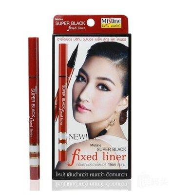 【新款】泰國 Mistine Super Black 極致全效眼線液 眼線筆 紅管 代購