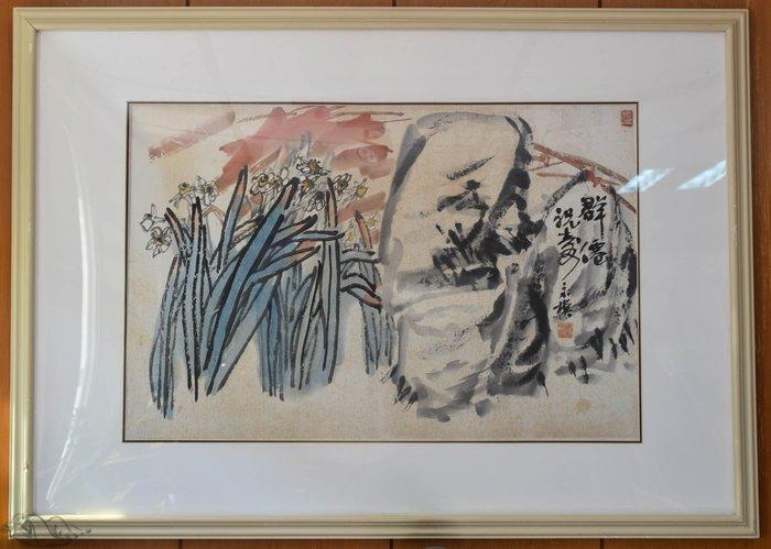 【阿鴻之寶】台灣名家陳永模作品 群仙祝壽 藏家寄售