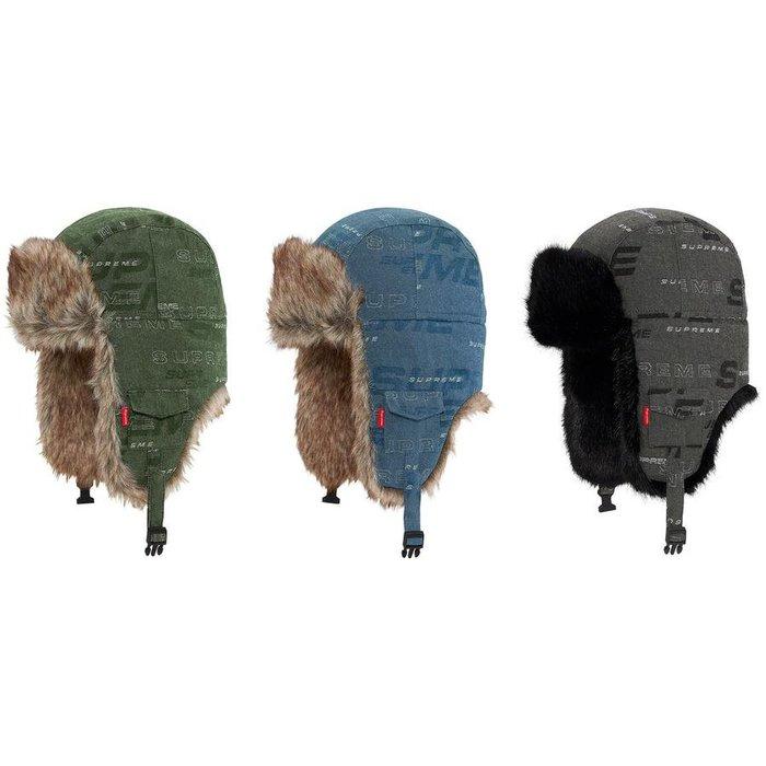 【美國鞋校】預購 Supreme FW19 Dimensions Logo Denim Trooper 遮耳帽
