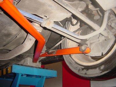 《大台北》億成汽車底盤精品改裝-SUMMIT-後下加強左右搖臂桿 TIERRA(MAZDA 323 / PREMACY)