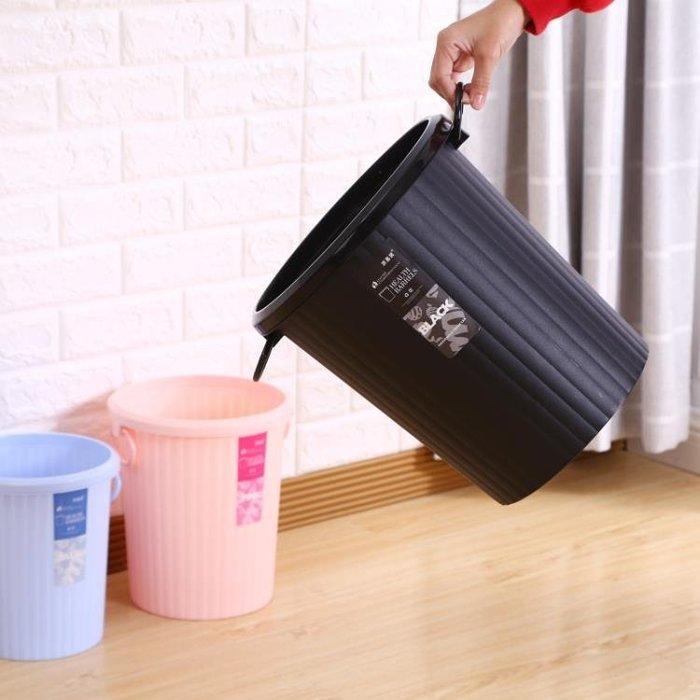 廚房垃圾桶家用大號小號無蓋創意客廳臥室衛生間紙簍塑料筒大容量Y-優思思