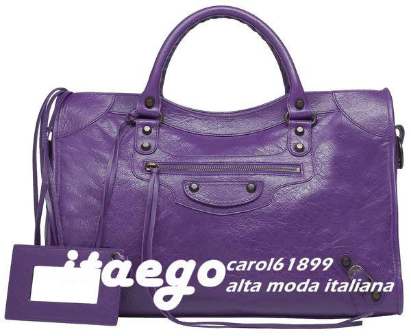 *小米蘭* BALENCIAGA CITY 115748 D94JT 1000 ULTRAVIOLET 紫色 現貨