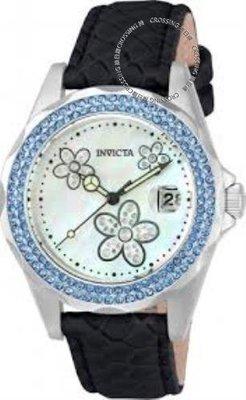 展示品 Invicta 23552 Angel Quartz Mother-of-Pearl Crystal Accented Strap Women
