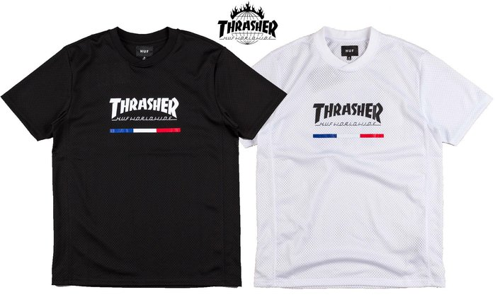 【超搶手】 全新正品 聯名 HUF x THRASHER TDS JERSEY 透氣網眼球衣 S M L XL XXL