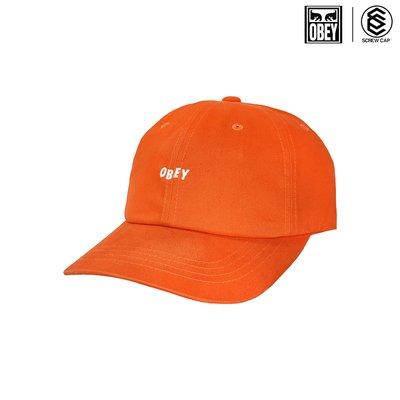 OBEY 老帽 90'S JUMBLE BAR III 6 PANEL SB 橘色 棒球帽 鴨舌帽⫷ScrewCap⫸