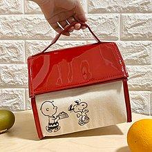 DAFA 史努比保冰保溫便當袋 PEANUTS日雜便當袋 可愛小房子早餐午餐袋