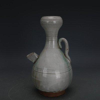 ㊣姥姥的寶藏㊣ 唐代邢窯白釉點彩手工瓷蒜頭執壺  出土古瓷器古玩古董收藏品