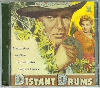 """遙遠的鼓聲 2CD, Distant Drums""- Max Steiner,美版21"
