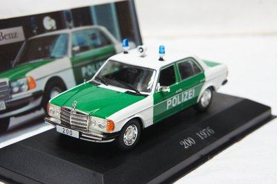 【超值特價】1:43 Altaya Mercedes Benz  200 W123 1976 Police 德國警車