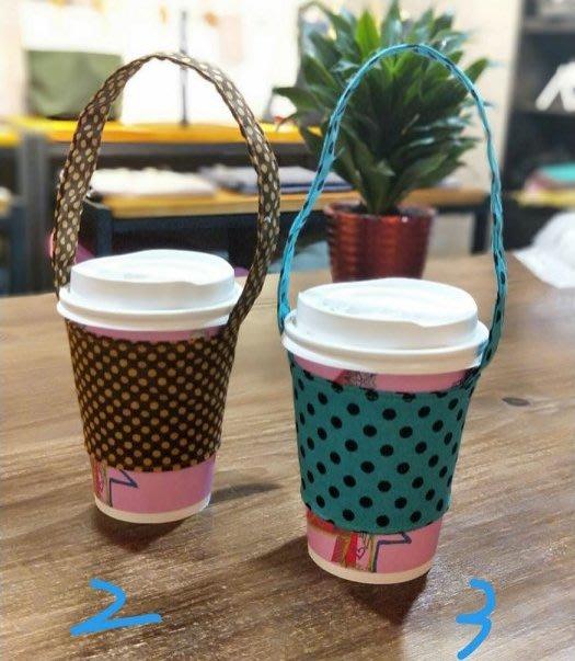 (正妹的店)環保飲料提袋 超商咖啡提袋 手摇飲料袋 日式點點