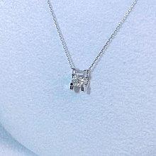 18k金鑽石經典牛頭項鍊