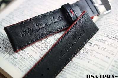 TINA TIMES~法國製造_ZRC小牛皮防敏科技運動錶帶_獻給易於流汗的運動錶迷 20mm 22mm